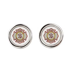 Fire Chief Maltese Cufflinks