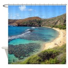 Hanauma Bay Hawaii Tropical Shower Curtain