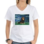 Lilies #5-Cavalier (BT) Women's V-Neck T-Shirt