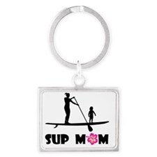 SUP Mom Color Landscape Keychain