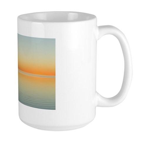 sailing sunset Large Mug