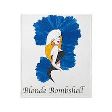 Blonde Bombshell Throw Blanket
