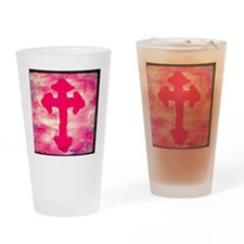 pink cross Drinking Glass