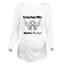 Asthma Angel Wings Long Sleeve Maternity T-Shirt