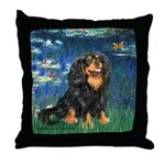 Lilies #5-Cavalier (BT) Throw Pillow
