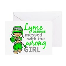 Lyme Disease Combat Girl Greeting Card