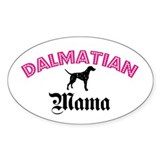 Dalmatian Mama Oval Decal