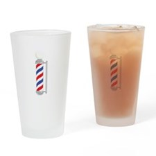 Barber Shop Pole Drinking Glass