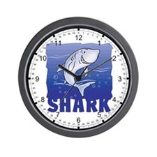 Kid Friendly Shark Wall Clock