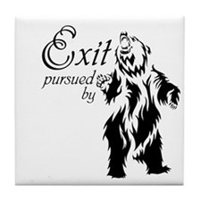 Exit by Bear Tile Coaster