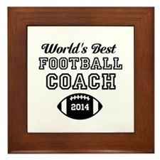 Worlds Best Football Coach Framed Tile
