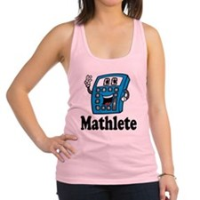 Mathlete calculator Racerback Tank Top
