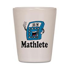 Mathlete calculator Shot Glass