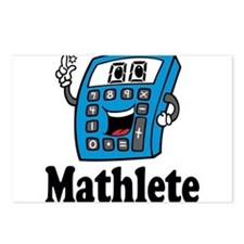 Mathlete calculator Postcards (Package of 8)