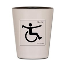 Wheelie Tai Chi Shot Glass