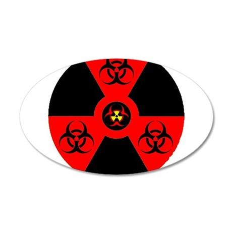 multi-radioactive biohazard Wall Decal