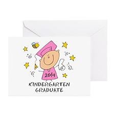 Cute Girl Kind Grad 14 Greeting Cards (Pk of 10)