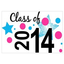 Star Bubble Grad 2014 Wall Art
