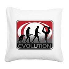 Evolution Yoga Square Canvas Pillow