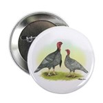 Blue Turkeys Button
