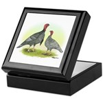 Blue Turkeys Keepsake Box