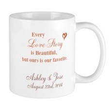 Personalize Bride Groom Mugs