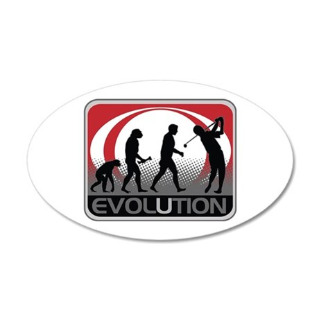 Evolution Golfer 35x21 Oval Wall Decal