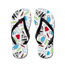 Cute Laboratory Pattern Flip Flops