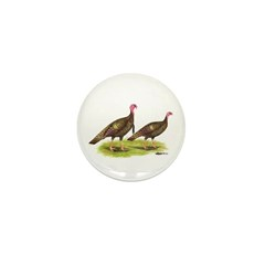 Wild Turkeys Mini Button (100 pack)