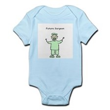 Future Surgeon Green Scrubs Infant Bodysuit