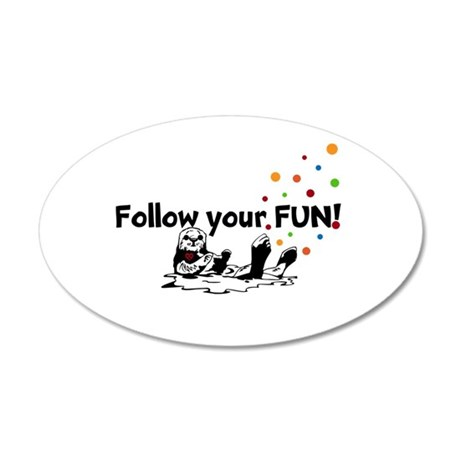 FOLLOW YOUR FUN! Otter Wall Sticker
