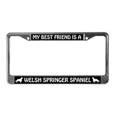 My Best Friend Is A Welsh License Plate Frame