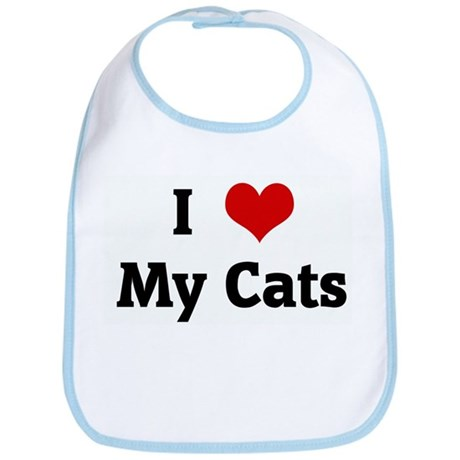 I Love My Cats Bib