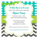 Baby boy shower invitations 5.25 x 5.25 Flat Cards