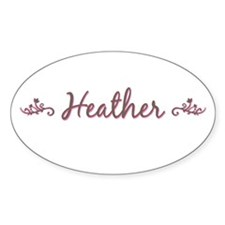 """Elegant Heather"" Oval Decal"