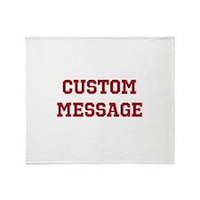 Two Line Custom Sports Message Throw Blanket