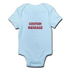 Two Line Custom Sports Message Body Suit