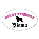 Great Pyrenees Mama Oval Decal