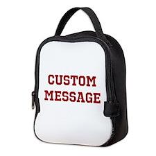 Two Line Custom Sports Message Neoprene Lunch Bag