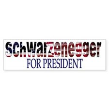 Schwarzenegger For President Bumper Car Sticker