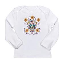 Sugar Skull WHITE Long Sleeve Infant T-Shirt