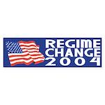 Regime Change 2004 (bumper sticker)