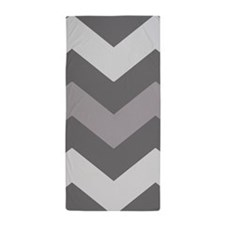 Dark Grey Chevron Beach Towel