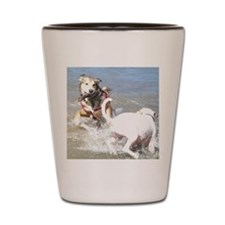 Dogs at Play Shot Glass