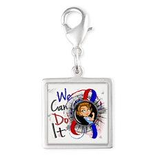 CHD Rosie Cartoon WCDI Silver Square Charm