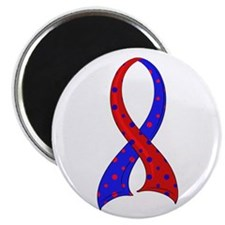 "CHD Polka Dot Ribbon 2.25"" Magnet (100 pack)"