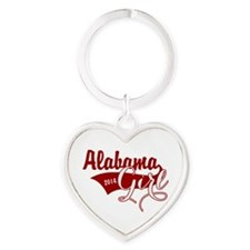 Alabama Girl Heart Keychain