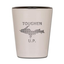 Toughen U.P. In Chrome Diamond Plate Shot Glass