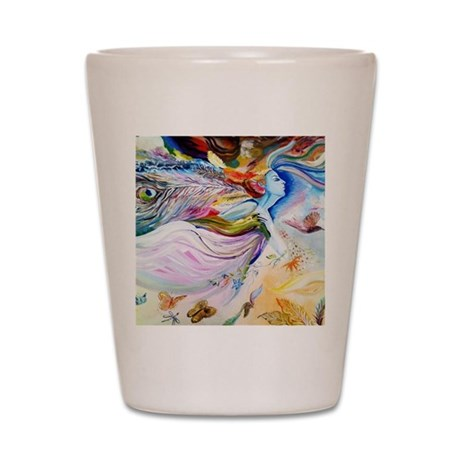 angel in the sky Shot Glass