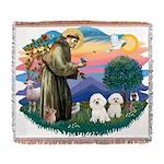 St Francis #2/ Bichon (2) Woven Blanket